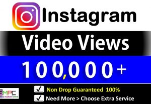 Get Instant 100,000+ Instagram Video Views+Impression   By active Users & Non Drop Guarantee.