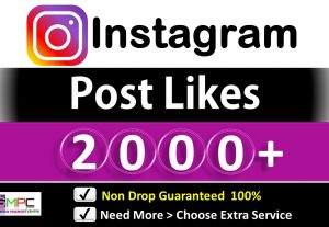 Get Instant 2000+ Instagram HQ Likes (in10 Minute to 3 Hours) for Picture and Video, Non Drop Guarantee.
