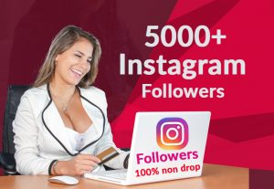add 5000+ Instagram followers 100% Non Drop Guaranteed (fast deliver)