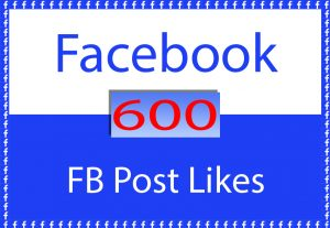 Facebook Post 600 Likes for $ 4