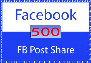 Facebook Post 500+ Shares for $ 6