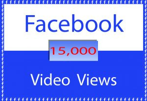 Facebook Video 15,000 Views only for $ 3