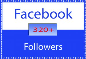 Facebook Profile or Page 320+ Followers for $ 3