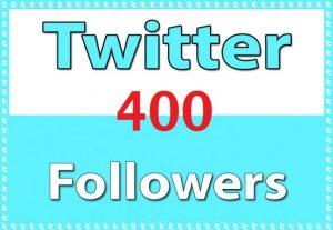 get 400 twitter followers HQ|30Days Refill  |fast|safe