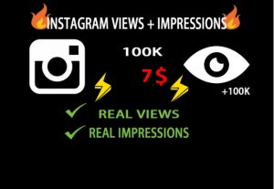 80.000k Instagram Views + Impressions are real