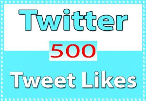 Twitter – Tweet 500+ Likes only for $ 4