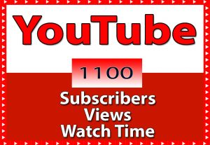 YouTube 1000+ Views, 50+ Subscribers & 50+ Hours Watch Time only for $ 5
