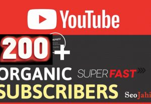 Manually 200+ YouTube  Real Permanent  Subscriber  Via Real User Fast