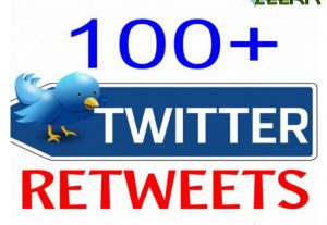 100+ TWITTER RETWEETS HIGH QUALITY AND SUPER FAST WITH NON-DROP GUARANTEED HQ