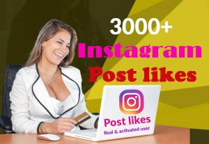 I Will give you 3000+ Instagram likes real & activated, user & 100% Non Drop Guaranteed (Instant Start)