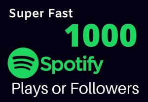 Super Fast-1000 High-Quality Spotify Plays +1000 Followers For Your Music Promotion