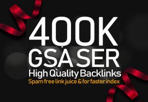 400,000 GSA SER Google Authority Backlinks for Multi-level Tier