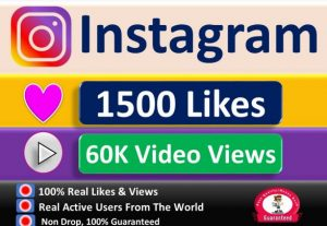 Instant 1500+ Likes or 60k+ Video Views in 1 to 3 Hours, Fast Delivery Guaranteed.