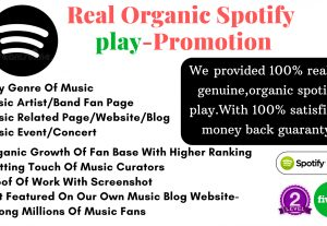 I will do viral organic spotify music promotion & provided 5000 plays.