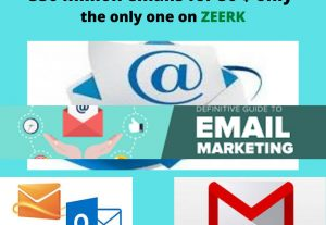 Sell you 350 million E-mails of active users