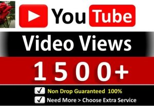 Instant 1000+ YouTube Video Views & 50 YouTube Likes, Good Retention, Non Drop Guaranteed