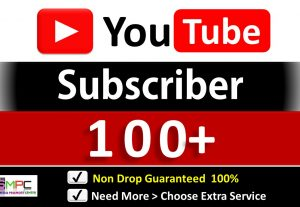 Get Organic 100+ YouTube Subscriber in your Channel, Non Drop, Real Active Users Guaranteed