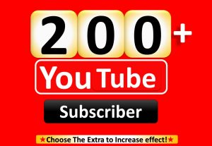 I Will Promote 200+ YouTube-Subscriber in your Channel, Non Drop, Real Active Users Guaranteed