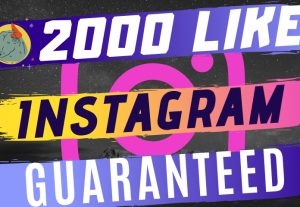 Instant 2000 + Like for Instagram Post Fast & Guaranteed