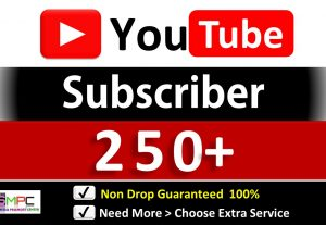 Get Organic 250+ YouTube-Subscriber in your Channel, Non Drop, Real Active Users Guaranteed