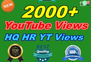 I will Add 2000+ Organic High-Quality HR YouTube Views Instant Start Delivery Within 48-72 Hours