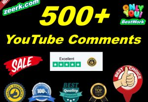 I will add 500+ NonDrop YouTube Comments Lifetime Guaranteed