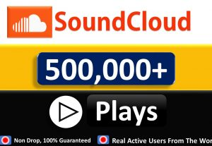 500,000+ USA SOUNDCLOUD Play in Your Track and 300 LIkes Top Quality, All are USA CIty, Non Drop Guaranteed