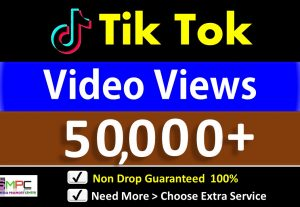 Get Instant 50,000+ TikTok Video views  in 24 Hours, Real Users, Guaranteed Non drop