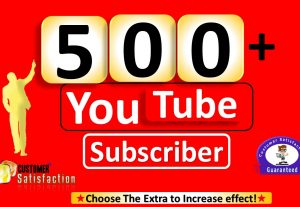 I Will Promote 500+ YouTube-Subscriber in your Channel, Non Drop, Real & Active User