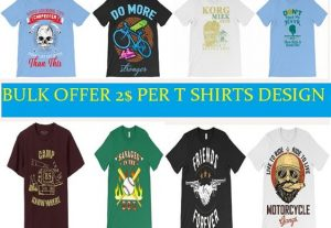 i will best t shirts design and mockup