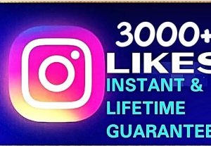I will provide 3000+ likes instant & lifetime guaranteed
