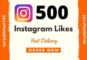 Instant 500 Instagram Likes – Cheapest in The Market