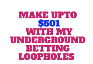 Make Upto $501 Conveniently With My Underground Betting Loopholes