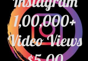 Enrich your Instagram post with 1,00,000+  Views instantly at only $5