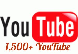 Add 1500+ YouTube Views with high quality promotion, real, non dropped and work instantly.