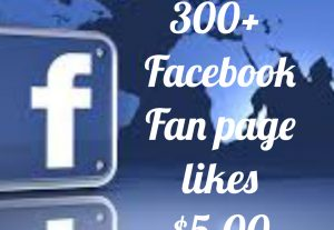 Add 300+ Facebook Fan Page likes with high quality promotion, real, non dropped and work instantly.