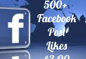 Add 500+ Facebook Post likes with high quality promotion, real, non dropped and work instantly.