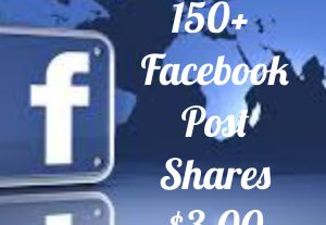 Add 150+ Facebook  Post share with high quality promotion, real, non dropped and work instantly.