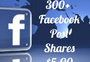 Add 300+ Facebook Post share with high quality promotion, real, non dropped and work instantly.