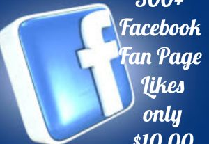 Add 500+ Facebook Fan page likes with high quality promotion, real, non dropped and work instantly.