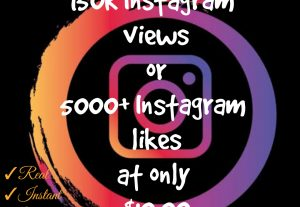 Add 150000+ Views or 5000+ likes in your Instagram post with high quality promotion, real, non dropped and work instantly.
