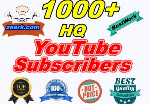 I will Add 1000+ High-Quality YouTube Subscribers 100% Safe LifeTime Guaranteed