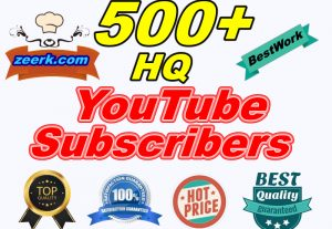 I Will Give You 500+ Permanent Safe HQ YouTube Subscribers LifeTime Guaranteed
