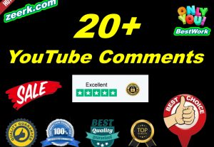 I will add 20+ NonDrop YouTube Comments Lifetime Guaranteed