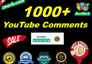 I will add 1000+ NonDrop YouTube Comments Lifetime Guaranteed