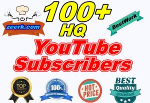 I will Provide 100+ Safe High-Quality YouTube Subscribers LifeTime Guaranteed