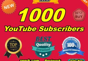 Get Non-Drop 1000 YouTube Subscribers With Extra Bonus Permanent