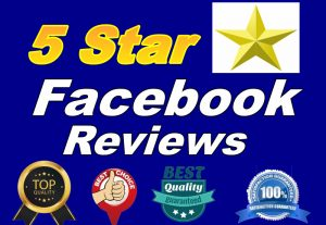 I will Provide Real 5 Star Facebook Reviews by manually Human 100% safe