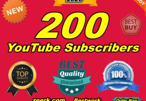 I will Give You Permanent 200 YouTube Subscribers Lifetime Guaranteed Fast Delivery