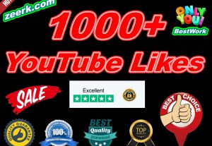 I will Give 1000+ NoDrop YouTube Likes Lifetime Guaranteed Instant start in 24 hours